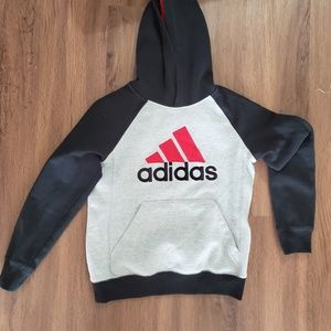 ADIDAS hoodie black and gray size 10/12 for kids